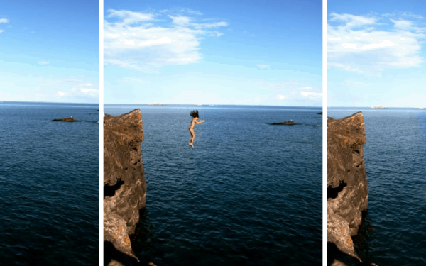 Cliff Jump Black Rocks Marquette