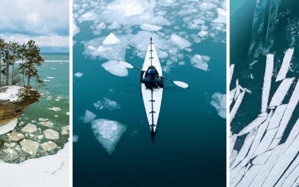 Frozen Michigan Lakes