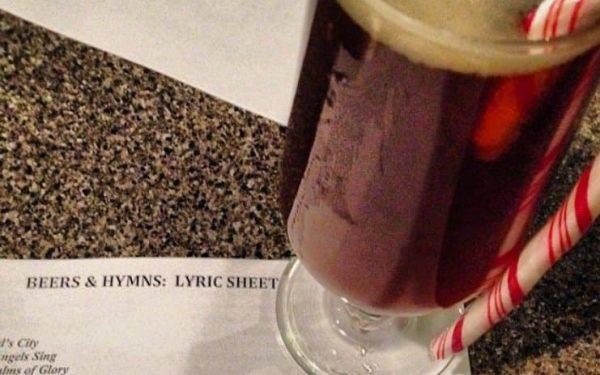 Christmas carols and Christmas beer Photo courtesy of Jennifer Symons