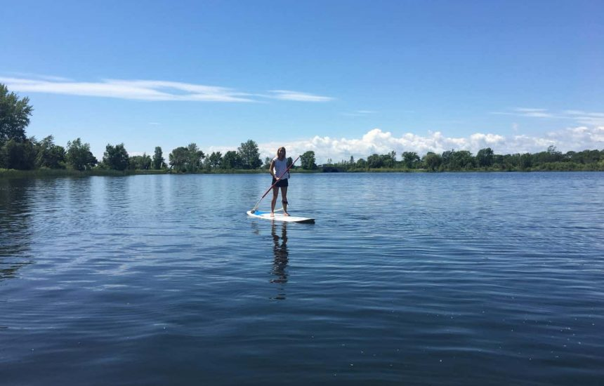 Great time paddle boarding, thanks to MISH Watersports. Photo courtesy of Joseph Symons
