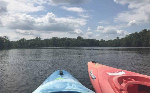 Kayaking at Stoney Creek.