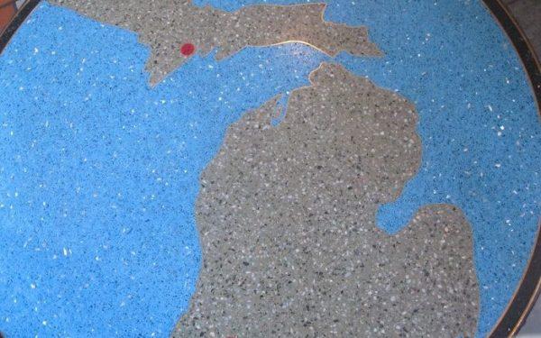 kalamazoo history map of Michigan